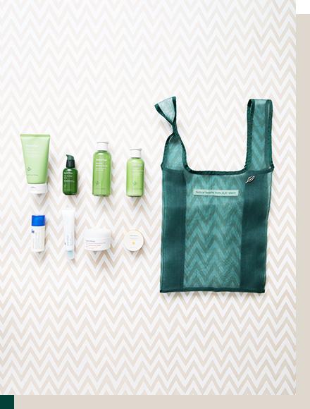 2020年 イニスフリー福袋ラッキーバッグの洗顔料、導入美容液、化粧水、美容液、乳液、アイクリーム、スリーピングパック、リップ用パック